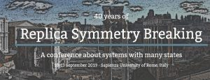 Poster for a conference title Replica Symmetry Breaking